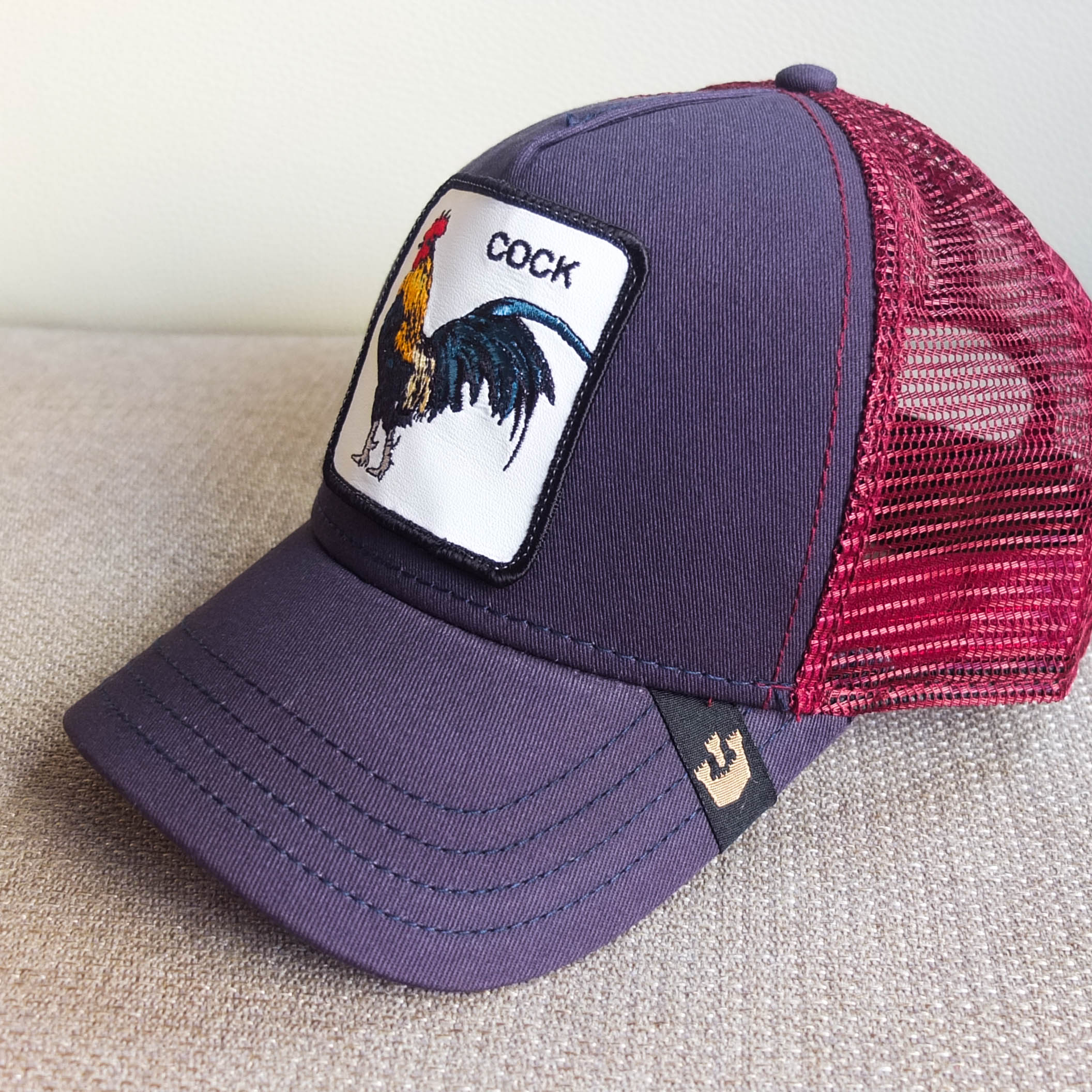 Home Ropa Gorras Gooring Bros Gorra Cock Blue and Red de Goorin Bros 22e37195f96