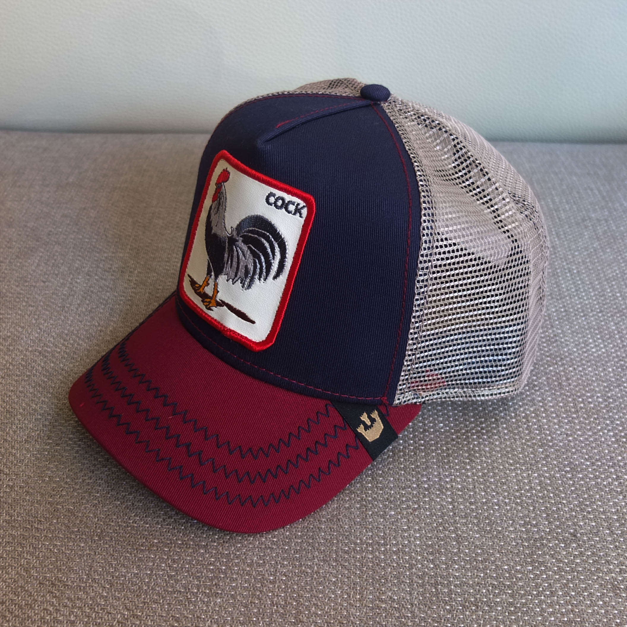 Home Ropa Gorras Gooring Bros Gorra Cock Red and Blue de Goorin Bros. 4723bf1f1e1